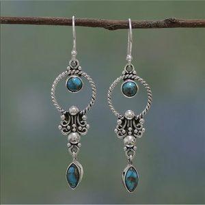 Pretty Turquoise Drop Earrings
